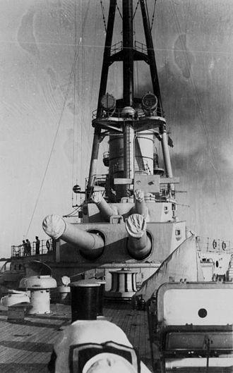 "12""/50 caliber gun (Argentina) - Main deck and guns of Moreno"