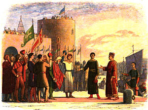 "Norman invasion of Ireland - ""Henry at Waterford"", from A Chronicle of England (1864) by James Doyle"