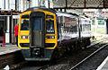 A Northern Rail DMU `Express` Class 158 (No. 158849), service to York 29.08.10 (4938467524).jpg