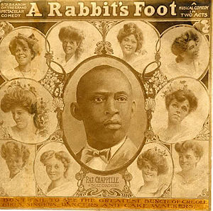 The Rabbit's Foot Company - A Rabbit's Foot theatre programme, c.1908, showing Pat Chappelle and unnamed performers