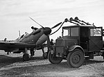 A Spitfire of No. 19 Squadron is refuelled at Fowlmere, near Duxford, September 1940. CH1372.jpg