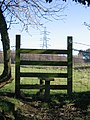 A Stile and Pylon on the Clwydian Way - geograph.org.uk - 349590.jpg