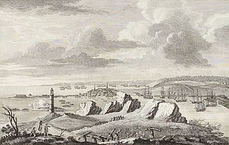 Nova Scotia - A View of Louisburg in North America, November 11, 1762.