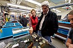 A biologist Reaches Into a Tank of Marine Wildlife as she Speaks With Secretary Kerry as he Toured Crary Labs at McMurdo Station (30840563281).jpg