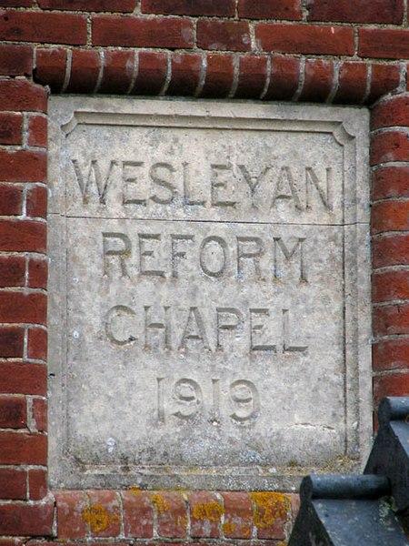 File:A converted Wesleyan Chapel - plaque - geograph.org.uk - 1077720.jpg