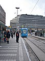 A foreign tram (kroatian) stopping at kaivokatu. - panoramio.jpg