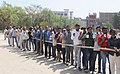 A large number of voters in a queue to cast their vote, at a polling booth during the 3rd Phase of General Elections-2014, in Ghaziabad, Uttar Pradesh on April 10, 2014.jpg