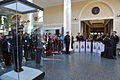 A life-size replica of U.S. Army Bugler Staff Sgt. Jesse Tubb is unveiled during the Arlington National Cemetery Welcome Center ribbon-cutting ceremony in Arlington, Va., Jan. 20, 2013 130120-A-NZ457-355.jpg