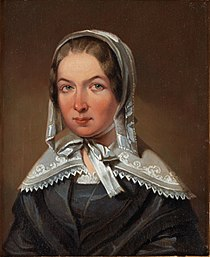 A replica or study of Johan Gustaf Sandberg's portrait of Fredrika Bremer.jpg