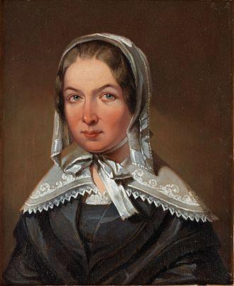 Fredrika Bremer - Image: A replica or study of Johan Gustaf Sandberg's portrait of Fredrika Bremer