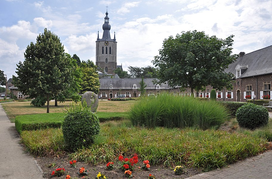 Aarschot (Belgium): the beguinage and the tower of St Mary's church