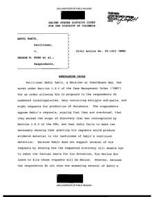 Habeas Corpus: The Guantanamo Cases