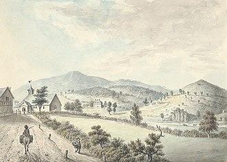 John Ingleby (painter) - Image: Abernavas church & hall, 1795