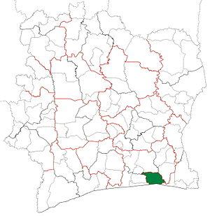 Abidjan Department - Image: Abidjan Department locator map Côte d'Ivoire