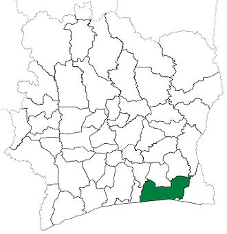 Abidjan Department - Abidjan Department from 1988 until 1998. (Other subdivision boundaries changed beginning in 1995.)