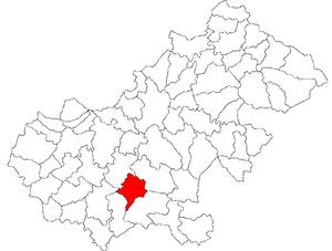 Acâș - Location of Acâș in Satu Mare County