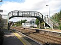 Acle railway station - footbridge and signal box - geograph.org.uk - 1477362.jpg