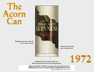 Widget (beer) - Diagram of Acorn Can