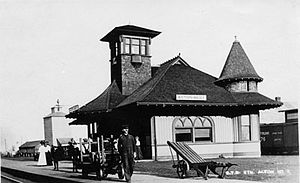 Acton, Ontario - The former Acton train station