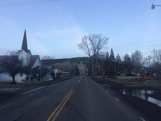 Adin, California - Adin, as seen from California State Route 139 heading North