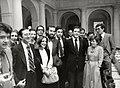 Adolfo Suárez se reúne con representantes de los medios de comunicación.jpeg