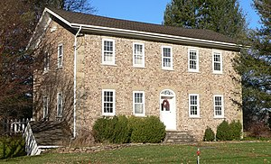 National Register of Historic Places listings in Monroe County, New York - Image: Adsit Cobblestone Farmhouse 2
