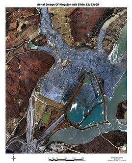 Kingston Fossil Plant coal fly ash slurry spill 2008 environmental disaster in Roane County, Tennessee