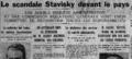 Affaire Stavisky, Une du quotidien Le Matin, 7 janvier 1934.png