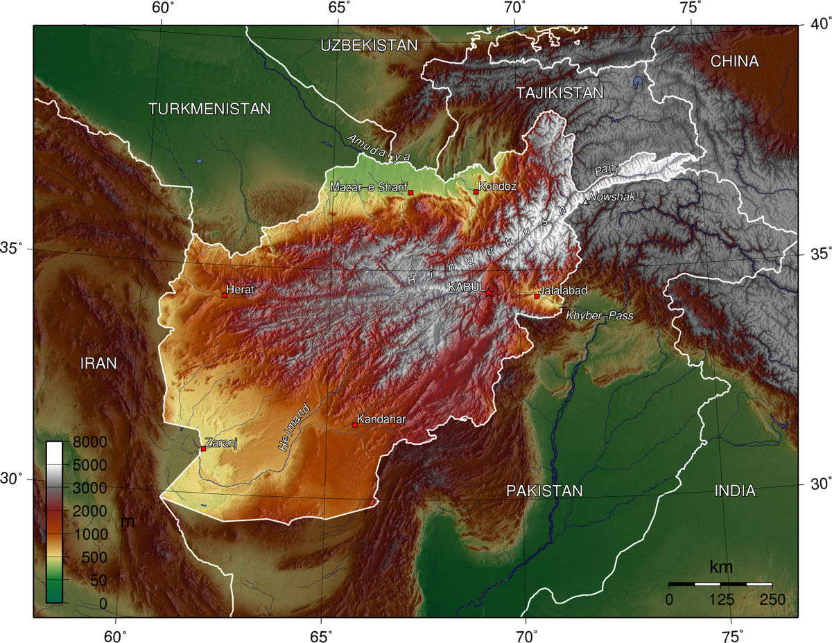 Geography of Afghanistan   Wikipedia