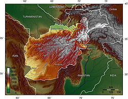 Topography of Afghanistan
