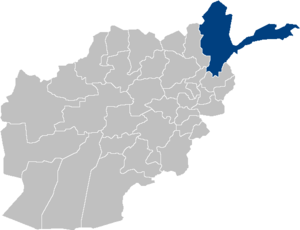 Location map for Badakhshan Province in Afghan...