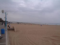 La plage d'Agadir