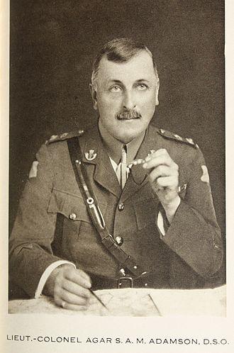 Agar Adamson - Lieutenant-colonel Adamson c.1917
