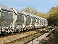 Aggregate train to London, near Crofton - geograph.org.uk - 1595534.jpg