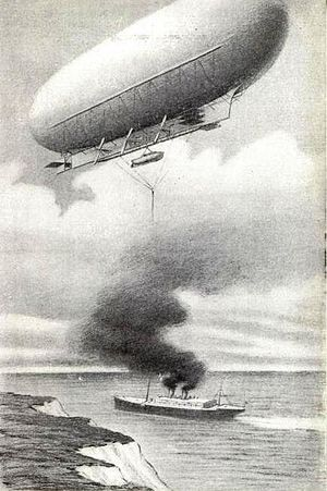 Melvin Vaniman - Drawing of the airship Akron in which Vaniman lost his life