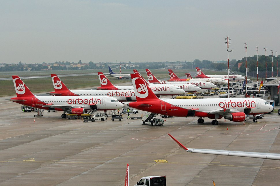 Airberlin aircraft at Berlin Tegel Airport