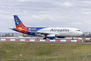 Aircalin (F-OZNC) Airbus A320-232 arriving at Sydney Airport.jpg