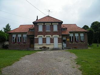 Aizecourt-le-Bas - The town hall of Aizecourt-le-Bas
