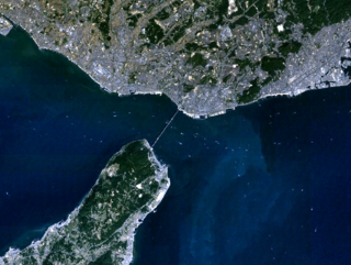 Akashi Strait Waterway between the Japanese islands of Honshu and Awaji
