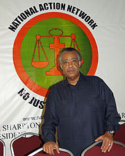Al Sharpton at National Action Network's headquarters.