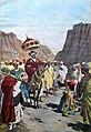 Al campo di Borumieda (1899) Ras Mangascià con la pietra al collo, fa atto di sottomissione al Negus Menelik.jpg