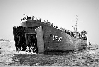 USS Alameda County (LST-32) - Image: Alameda County LST 32