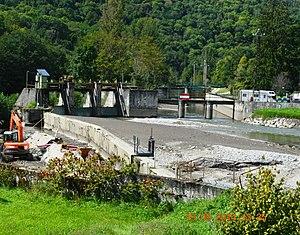 Albiès - Albiès Floodgates on the Ariège river
