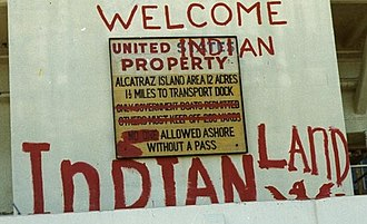 "Wilma Mankiller - Alcatraz Occupation ""Welcome to Indian Land"" graffiti"