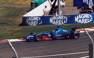 Jean Alesi - Alesi driving for Prost at the 2001 French Grand Prix.
