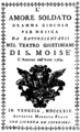 Alessandro Felici - L'amore soldato - titlepage of the libretto - Venice 1769.png