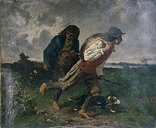 Etre maître Braconnier dans ARTISANAT FRANCAIS 220px-Alexis_Mauflastre_-_Retour_de_chasse_ou_Les_braconniers_bretons