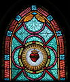 All Saints Catholic Church (St. Peters, Missouri) - stained glass, sacristy, Sacred Heart.jpg