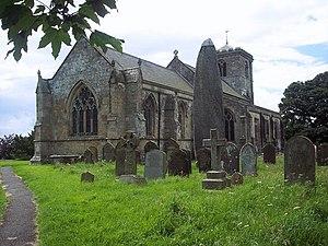 Rudston - Image: All Saints Church and Monolith, Rudston geograph.org.uk 501153