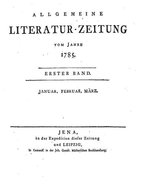 File:Allgemeine Literatur Zeitung 1. Jg 1785 Nr.1 Auszug.pdf